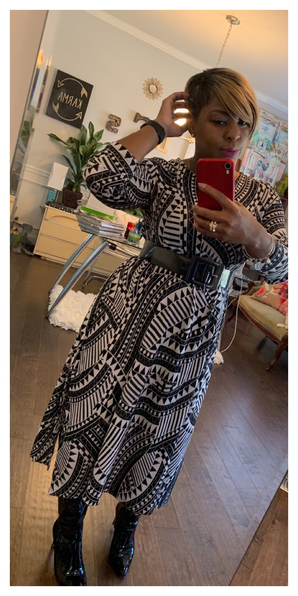 GRAPHIC! Printed Oversized Dress/Tunic: ONE SIZE