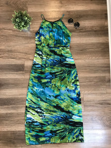 Cynthia Rowley Printed Maxi Dress: Size 10