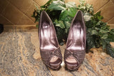 "EXCLUSIVE NEW ARRIVAL from Tasha Cobbs!! Lulu Townsend Silver Sequined Heel"" Size 11"