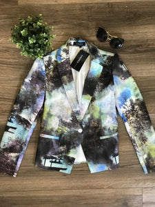 Choies Watercolor Blazer: Size S