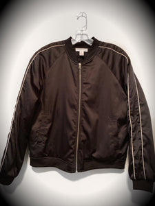 "F21 ""Los Angeles"" Satin Bomber Jacket: Size M"