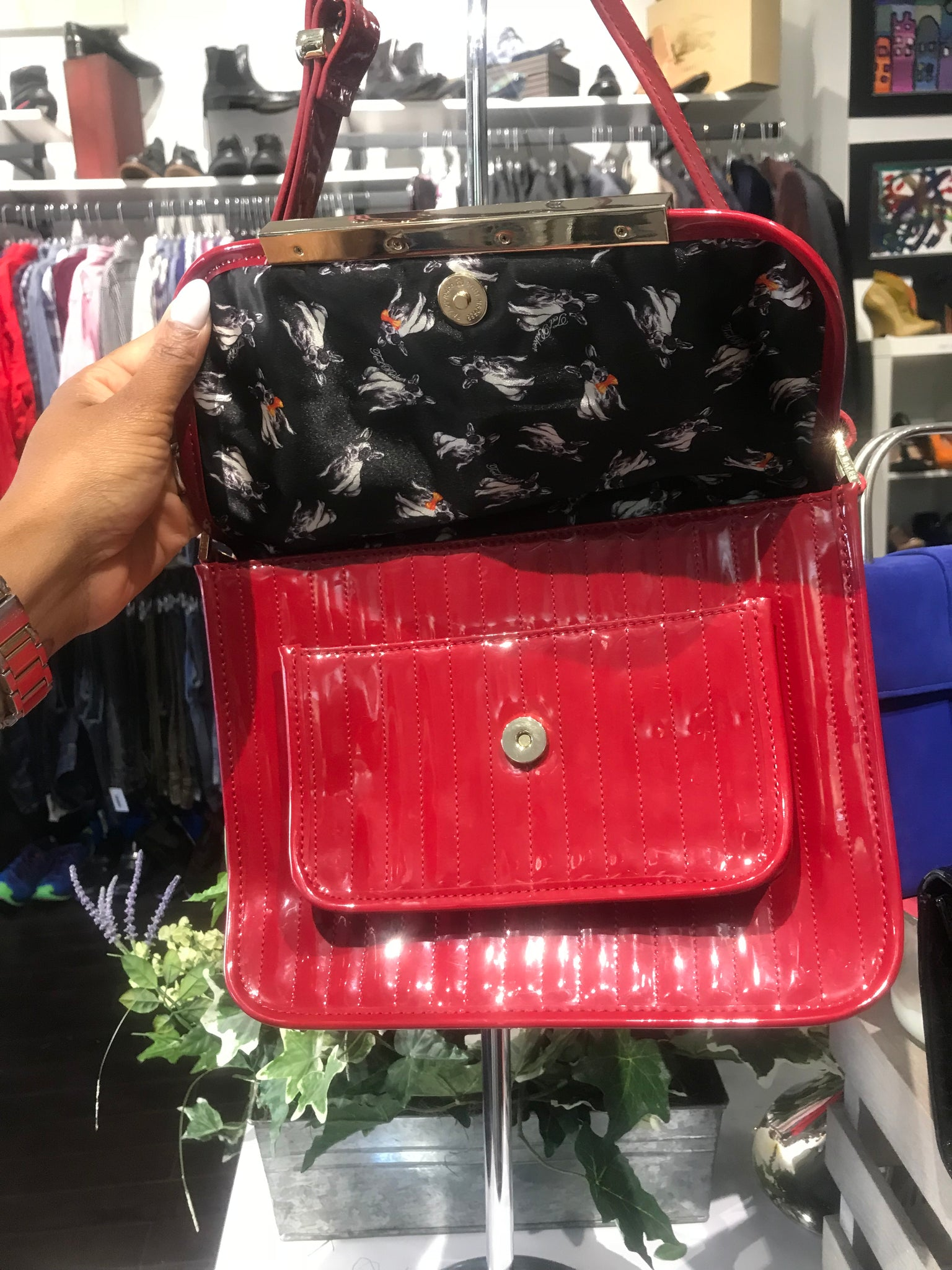 Ted Baker Crimson Patent Crossbody!