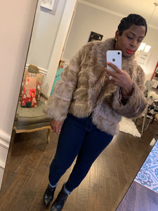 Chico's Faux Fur Jacket: Size M