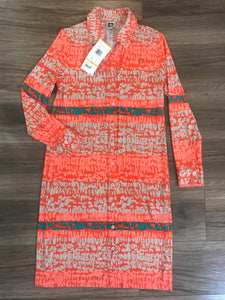 Anne Klein Printed Shirt Dress! Size S