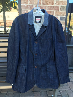MEN'S DENIM BLAZER: Sz 44