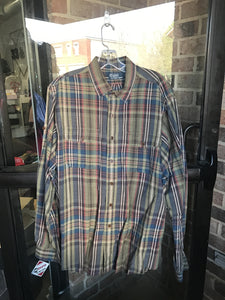 Polo by Ralph Lauren Plaid Shirt: Sz XL