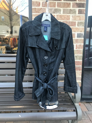 Baccini Denim Peacoat Jacket: Sz XL