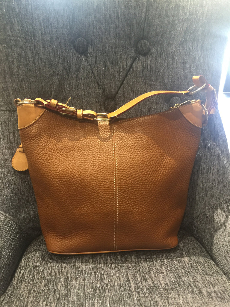 Dooney & Bourke Tan Leather Handbag: MEDIUM