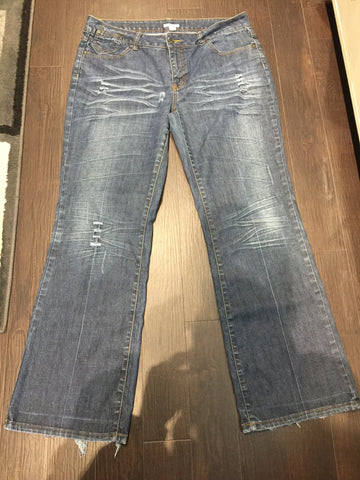 Cato Distressed Denim: Sz 16