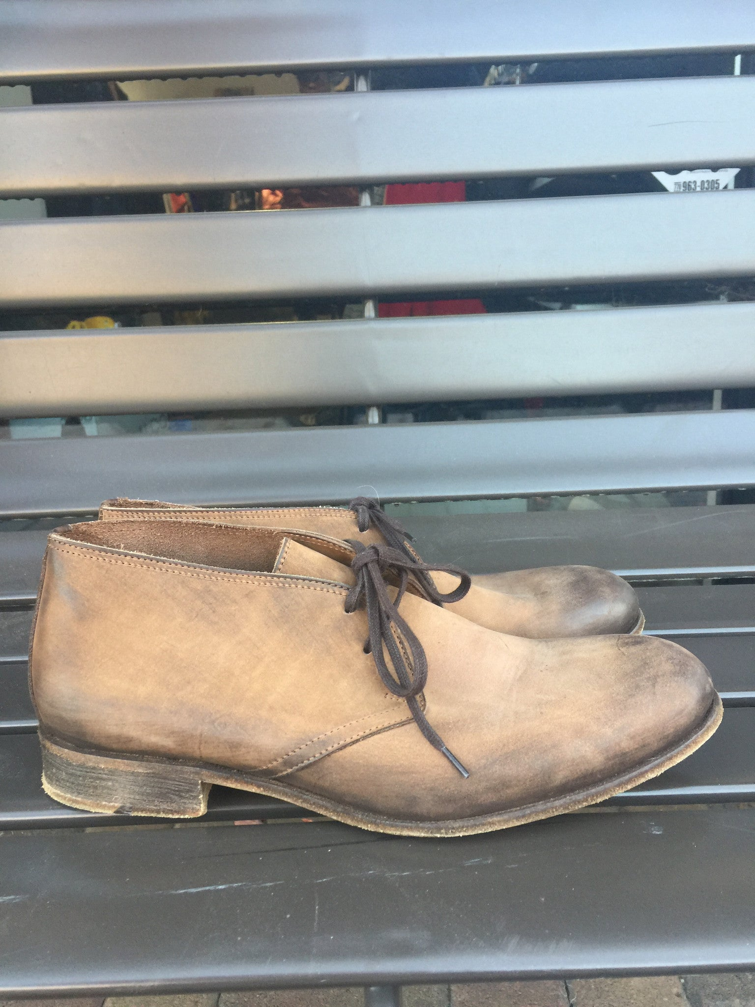 Billy Reid of Italy Tan Leather Boots: Sz 8.5