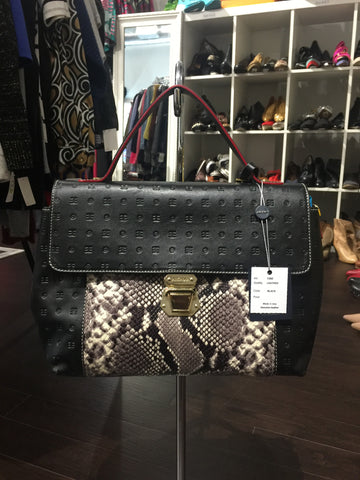 Arcadia Leather Snakeskin Tote