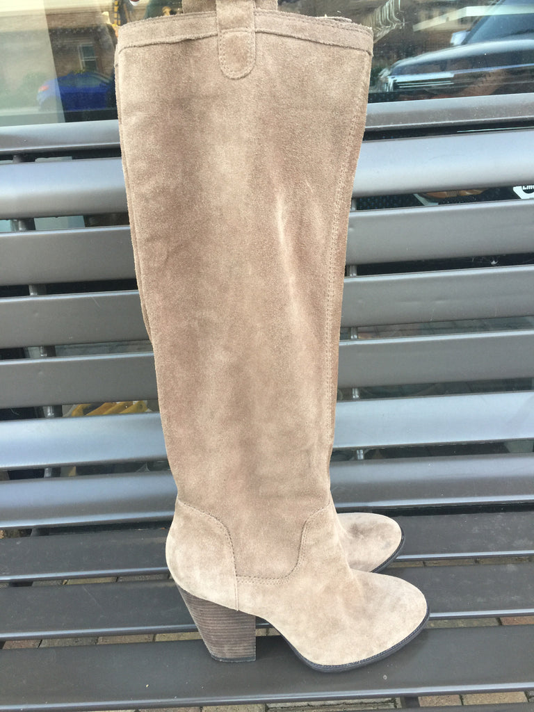 Vince Camuto Tan Suede Slouch Boots: Sz 9