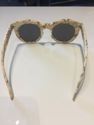 Cream & Chocolate Marble Sunglasses