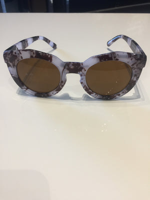 Light Blue & Brown Marble Sunglasses