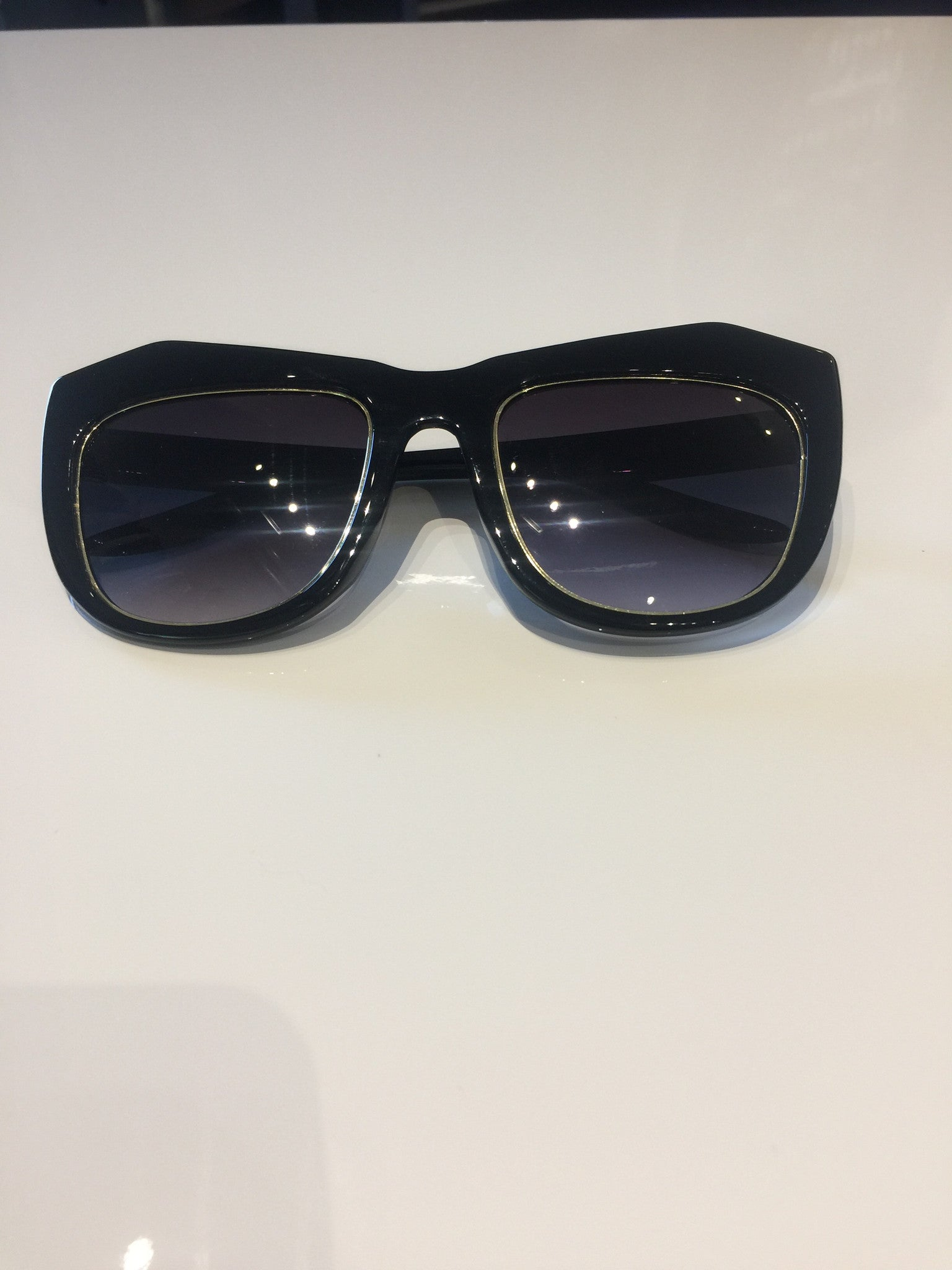 Black & Gold Oversized Sunglasses
