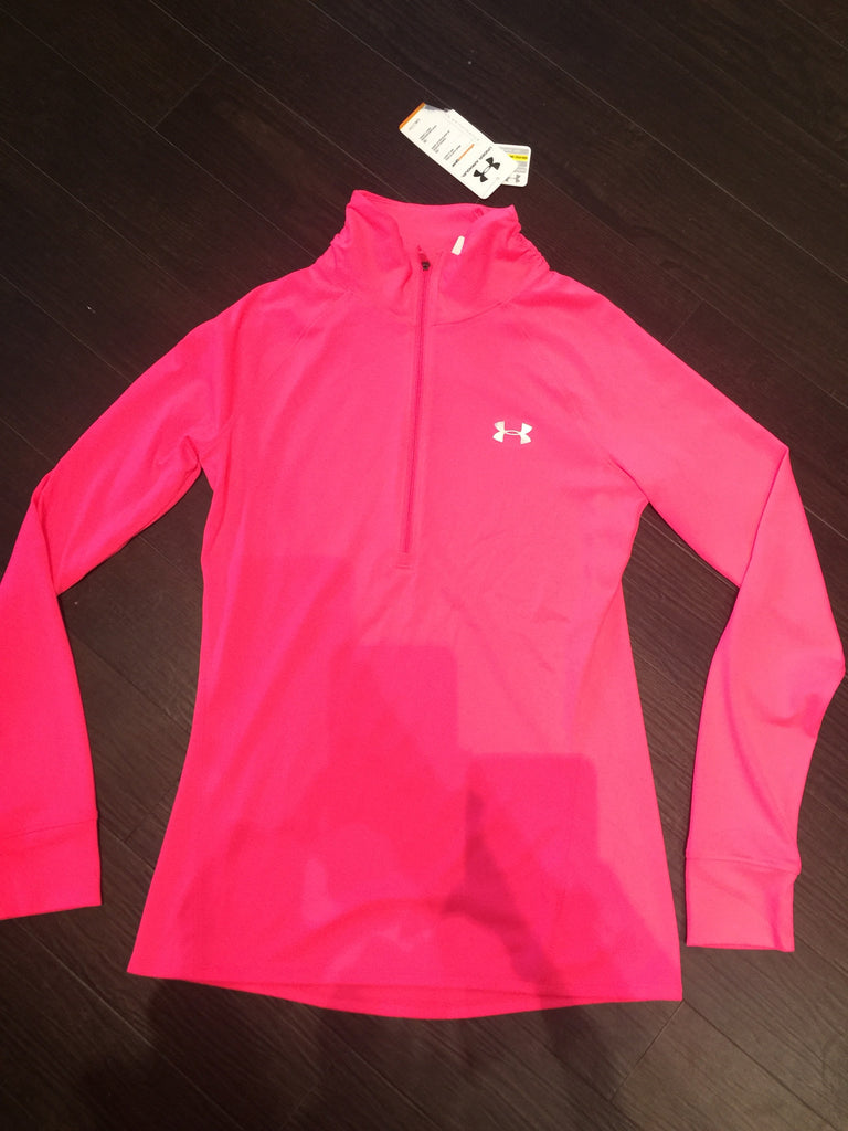 Under Armour Neon Pink Track Jacket: Sz S