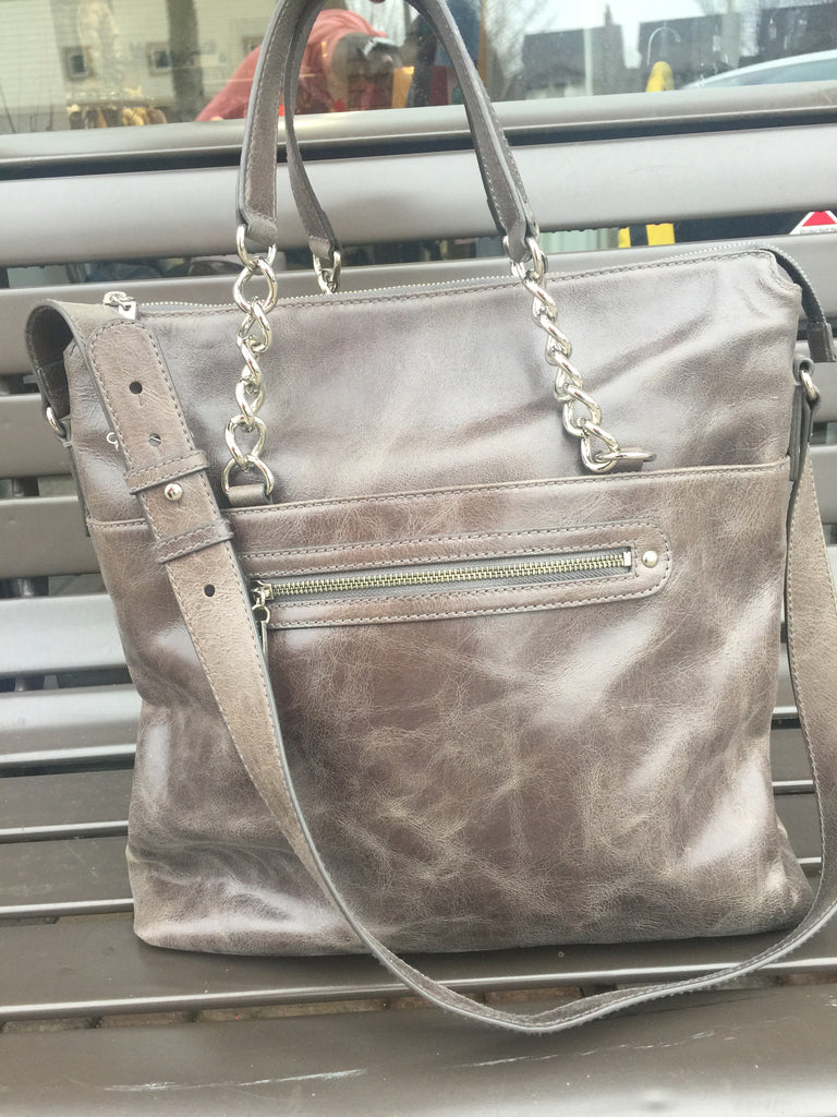 Via Spiga Leather Hobo Handbag