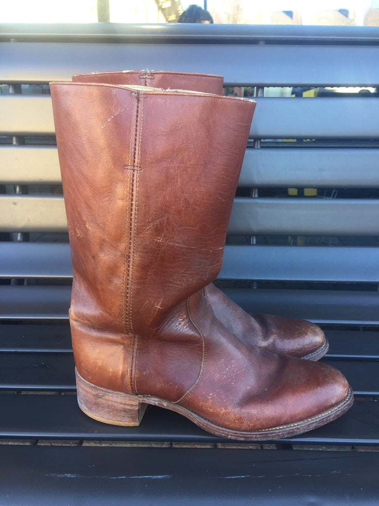 Men's VINTAGE Leather Riding Boots: Sz 12