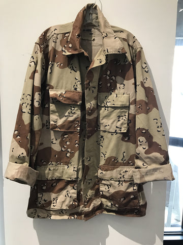 Army CAMO Jacket Brown Print: Sz L X-Long