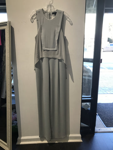 BCBG Grey Pants Suit: Sz 2