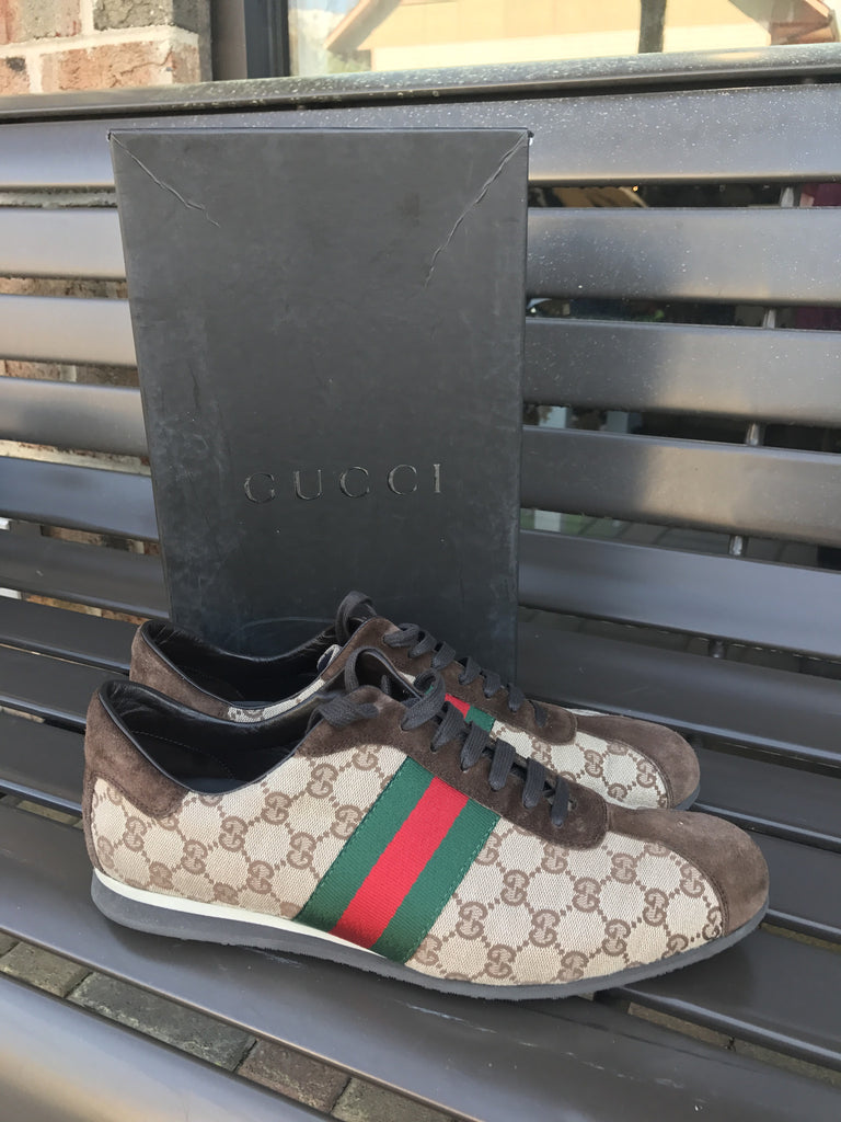 Gucci Monogram Sneakers: Sz 13