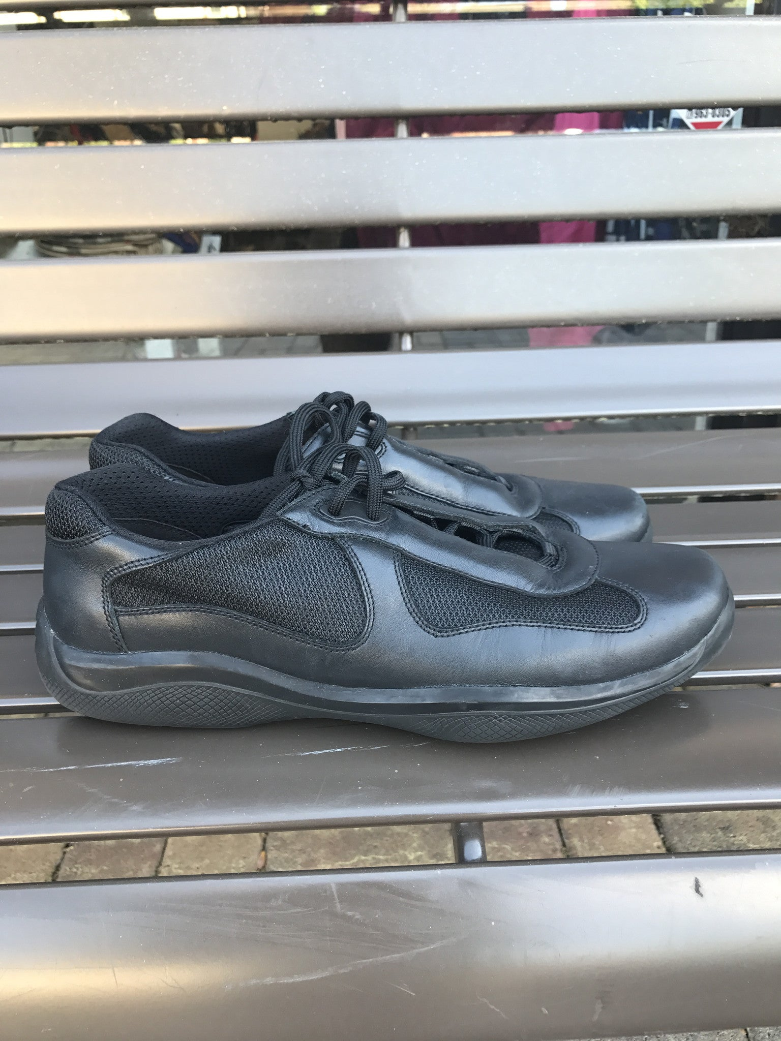 Prada Leather Sneakers: Sz 12
