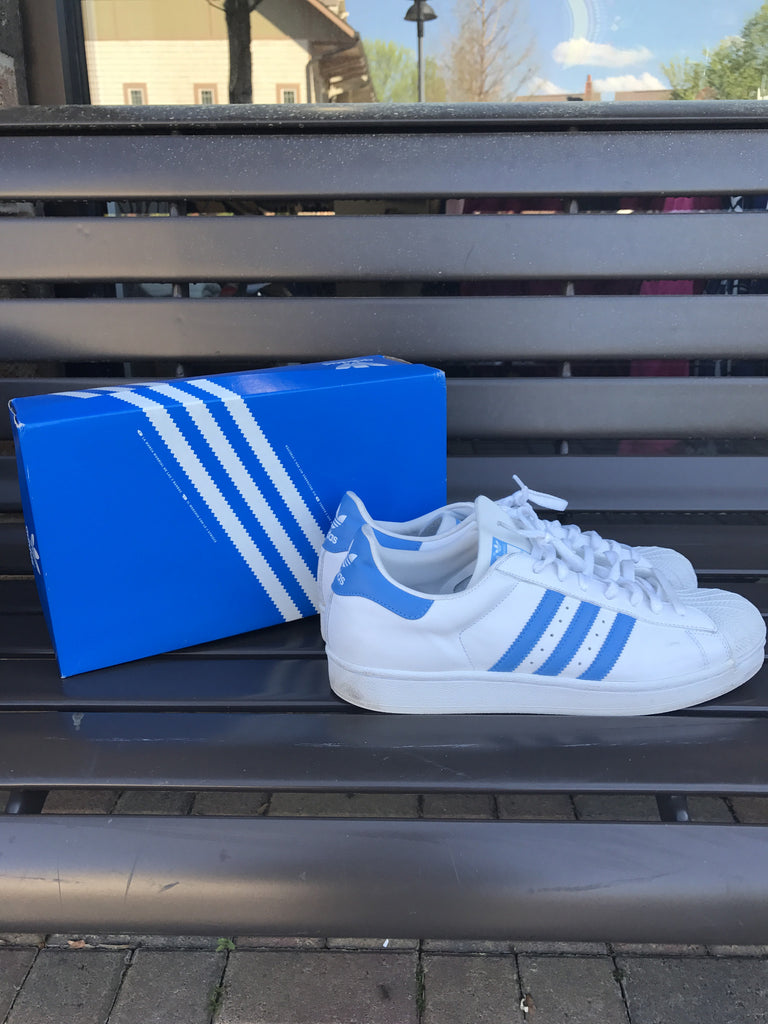 Adidas Superstars Lt. Blue: Sz 12
