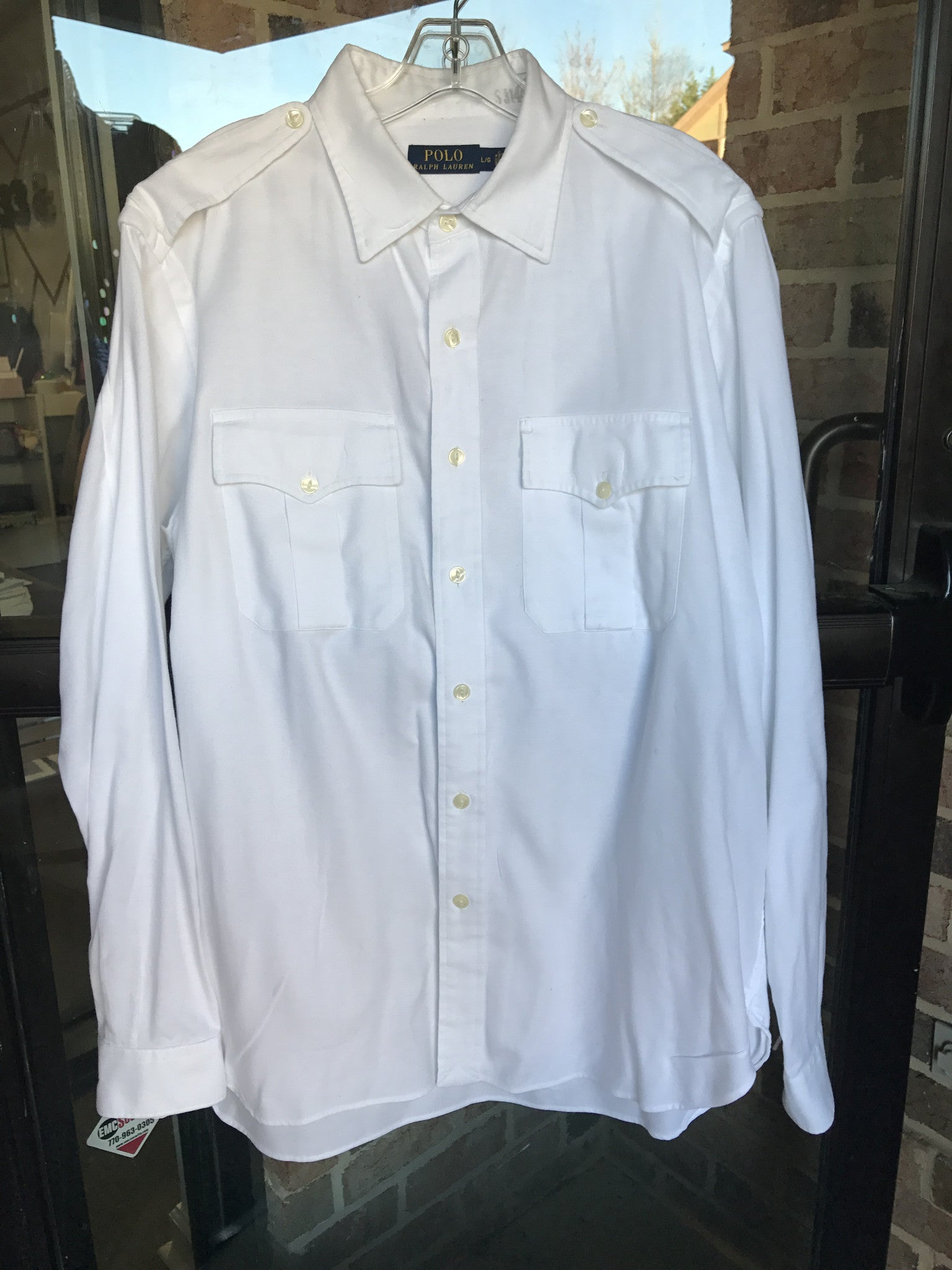 Polo by Ralph Lauren White Shirt: Sz L