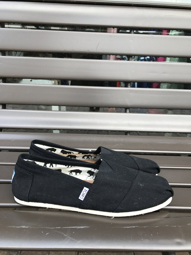 Toms Traditional Black: Sz 9.5