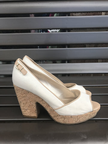 Antonio Melani Canvas & Cork Wedges: Sz 8.5