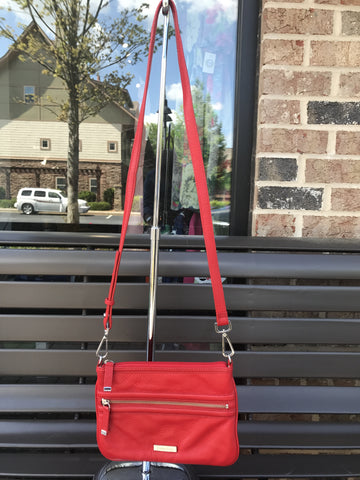Calvin Klein Red Leather Crossbody