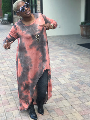 New! Tie Dye Asymmetrical Tunic!