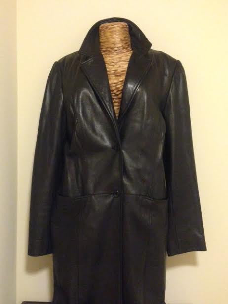 Black Leather Jacket: Size L