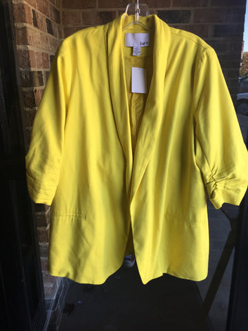 Bar lll Yellow Blazer: Sz XL