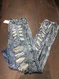 Aphrodite Dark DISTRESSED Denim: Sz XL