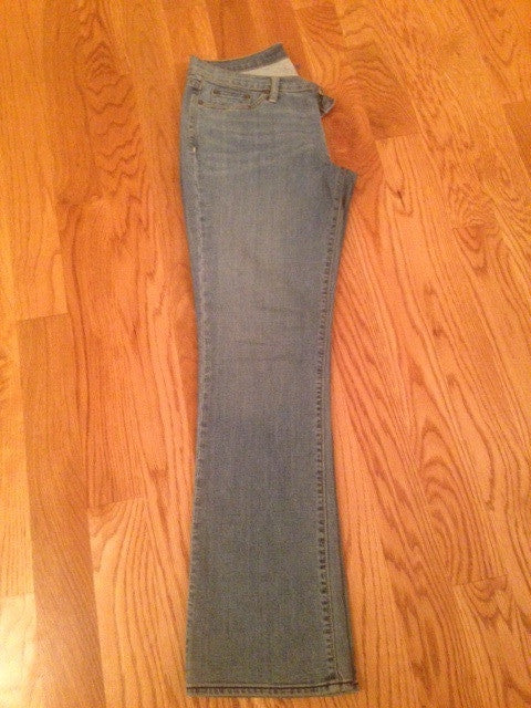 Medium Tint Denim Jeans Boot Cut: Size10L