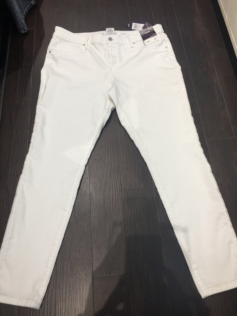 White Denim Jeggings: Sz 14W