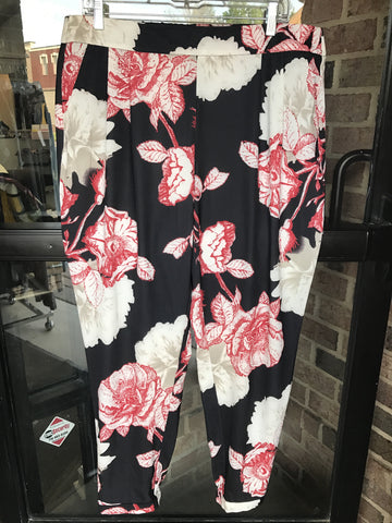 Black Label by Chico's Floral Pants: Sz 2X