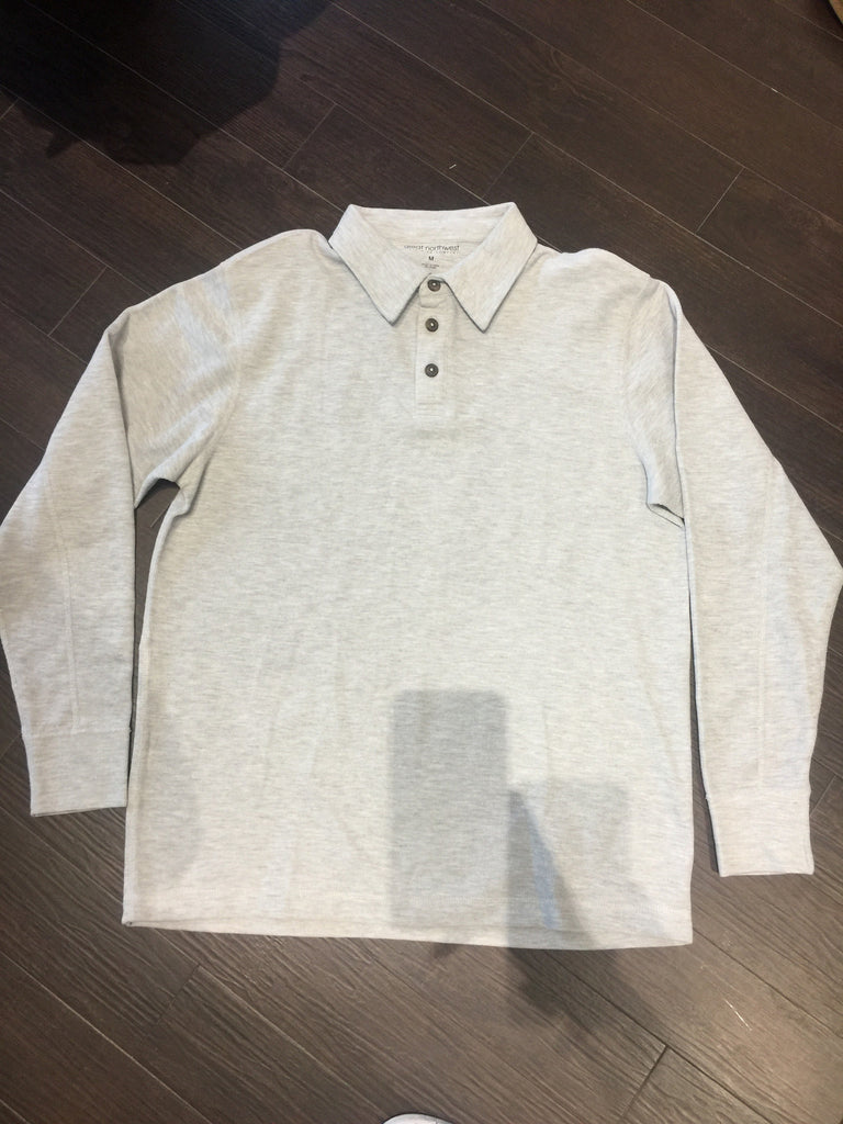 Men's Great Northwest Grey Ribbed Shirt: Sz M