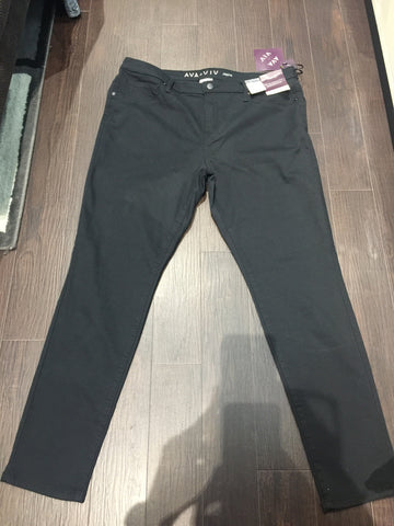 Black Denim Jeggings: Sz 16W