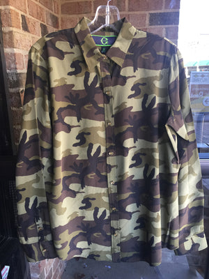 C Wonder Silk Camo Top: Sz M