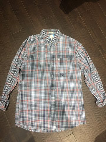 Abercrombie Plaid Shirt: Sz L
