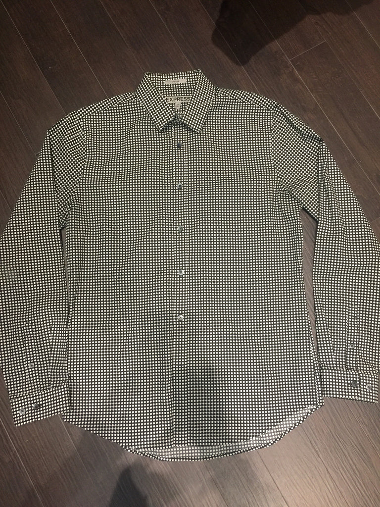 Express Polka Dot Shirt: Sz M