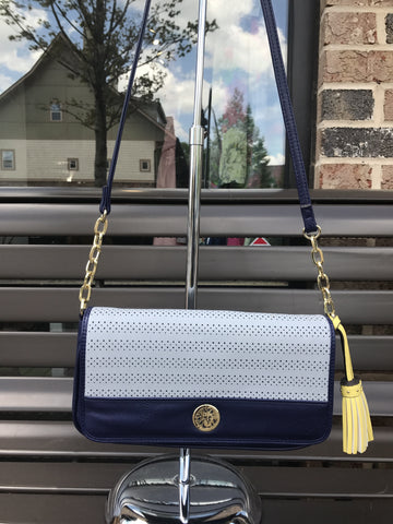 Anne Klein Blue Crossbody: Sz SMALL