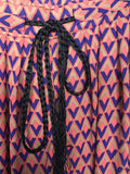 Printed Palazzo Pants w/ Braided Belt: Sz M