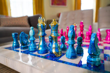 Load image into Gallery viewer, Light Blue & Pink | Chess Set