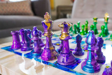 Load image into Gallery viewer, Purple & Green | Chess Set