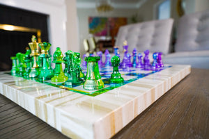 Purple & Green | Chess Set