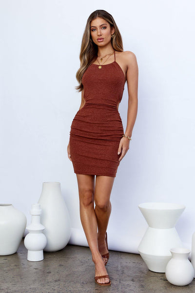 Need Attention Dress Coffee | Hello Molly USA