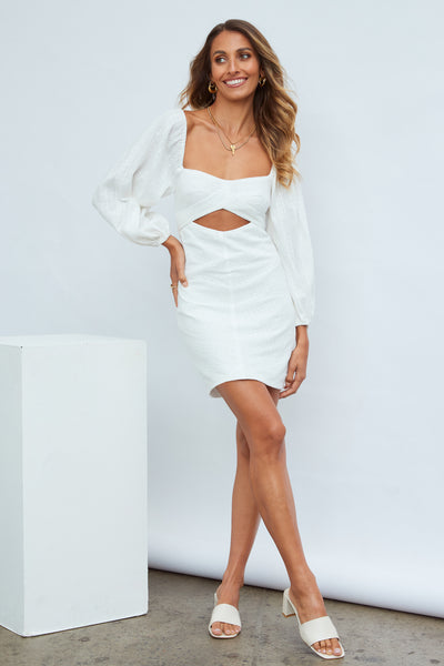 Feeling Smitten Dress White